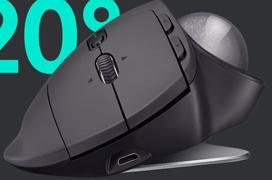 El ratón inalámbrico Logitech MX Ergo puede variar su ángulo de inclinación