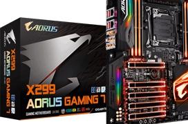 Regalamos dos placas base Gigabyte AORUS X299 Gaming 7 valoradas en 450 Euros cada una