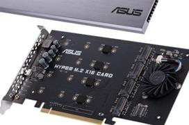 La tarjeta ASUS Hyper M.2  añade 4 puertos M.2 de 32GB/s