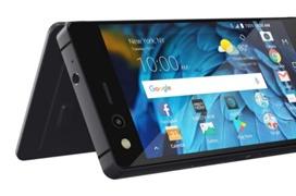 ZTE sorprende con un móvil con doble pantalla plegable