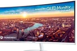 La tecnología QLED y Thunderbolt 3 se dan la mano en este monitor curvado de Samsung