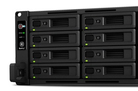 Synology RackStation RS2818RP+, un NAS profesional con 16 bahías en formato rack 3U