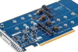 Gigabyte anuncia un adaptador PCIe x16 para cuatro SSDs M.2