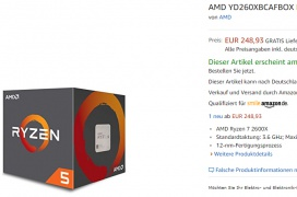 Se filtra en AMD Ryzen 5 2600X en Amazon