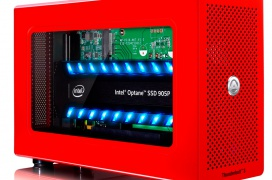 Esta caja externa Thunderbolt 3 de AkiTio esconde un SSD Intel Optane 905P a 2.200 MB/s