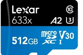 Lexar presume de la microSD de clase A2 con más capacidad del mundo con sus 512 GB