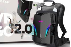 ZOTAC actualiza su PC-mochila de Realidad Virtual VR GO 2.0 con un Core i7-8700T y tamaño más compacto