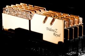 Si te gusta el oro y los brillantes, las G.SKILL Trident Z Royal con hasta 4.600 MHz son tus memorias RAM