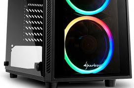 La Sharkoon TG4 llega con doble cristal templado y cuatro ventiladores ARGB