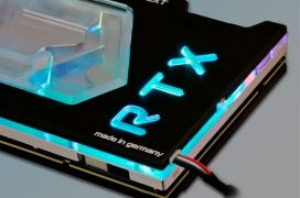 Aqua Computer lanza su bloque Kryographics NEXT para las NVIDIA RTX 20 con indicador de temperatura y caudal