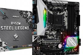 ASRock ofrece un acabado que simula el acero en sus placas Steel Legend con chipset AMD B450