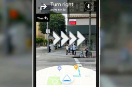Google está probando un sistema de navegación por Realidad Aumentada para Maps