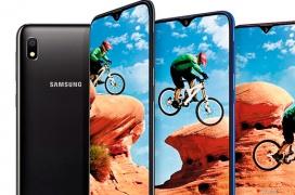 El Galaxy A10 ofrece pantalla Infinity-V con notch para la gama baja