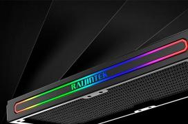 El radiador Raijintek Teos 240A RBW permite al usuario cambiar el logo lateral iluminado por ARGB