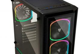 Doble panel de cristal templado e iluminación ARGB en la torre Enermax StarryFort SF30