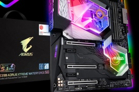 "Por 1599€ Gigabyte te ""regala"" un Intel i9 9900K a 5.1 GHz si compras la placa base Z390 Aorus Xtreme Waterforce"