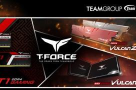 TeamGroup lanza la línea de DDR4 RAM T-Force T1 y Vulcan Z así como el SSD Vulcan, orientadas al segmento gaming de gama media