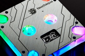 Bitspower lanza el bloque Touchaqua CPU Block Summit MS OLED con panel OLED que monitoriza la temperatura