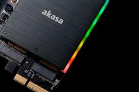 El adaptador Akasa Dual M.2 PCIe SSD puede albergar dos SSD PCIe e integra iluminación RGB