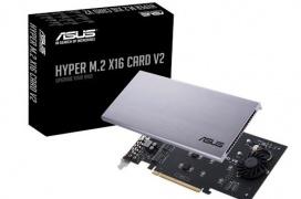 Asus actualiza su Hyper M.2 con la versión V2 capaz de 128 Gbps y mejor consumo para 4 puertos NVMe en RAID