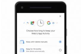 Google permite establecer un límite de tiempo para autodestruir nuestros datos de actividad en internet