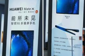Un poster en una tienda de China indicaría un lanzamiento próximo del Huawei Mate X