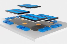 Intel reinventa el empaquetado de sus CPUs cosiendo los chiplets Foveros unos a otros con Co-EMIB