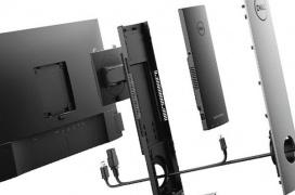 El Dell OptiPlex 7070 Ultra se oculta en un stand de pantalla para no ocupar espacio en el escritorio