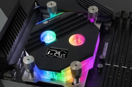 Bitspower lanza su nuevo bloque CPU Block Summit M con panel OLED para monitorizar la temperatura compatible con Intel y AMD
