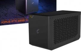 La Aorus Gaming Box de Gigabyte incluye una RTX 2080 Ti con refrigeración líquida en una caja externa