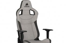 La silla gaming T3 RUSH de Corsair llega fabricada con tela transpirable y reposabrazos 4D