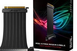 ASUS anuncia un cable riser PCIe x16 reforzado de la gama ROG Strix