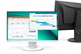 Con un diseño sin bordes y hechos con materiales reciclados llegan los monitores EIZO FlexScan EV2460 y EV2360