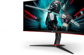Los monitores gaming AOC CU34G2 incorporan un panel VA a 144 Hz de resolución 3440x1440