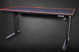 RGB e incluso soporte para Alexa en la mesa motorizada Thermaltake ToughDesk 300
