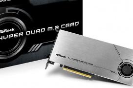 ASROCk  lanza la tarjeta Hyper Quad M.2 con PCI Express 4.0 x16 y soporte para cuatro SSD M.2 NVMe