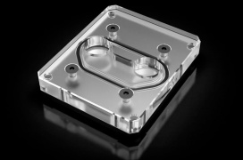 El bloque Ek Quantum Momentum permite aplicar refrigeración líquida al chipset X570 de las placas Aorus