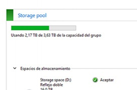 "Montar un ""espacio de almacenamiento"" en Windows 8 o Windows 10"