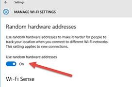 Activa el randomizador MAC en Windows 10