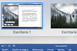 Escritorios virtuales en MacOS con fondo de pantalla individualizado