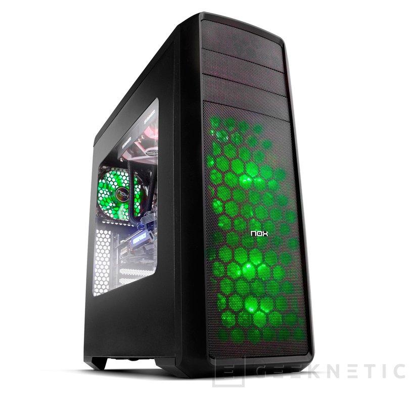 Chasis NOX Coolbay ZX Green LED
