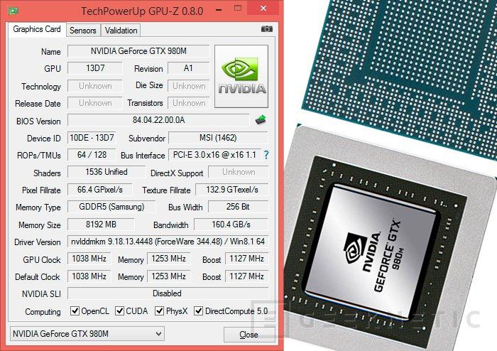 MSI GT72 2QE Dominator Pro con Nvidia Geforce GTX 980M
