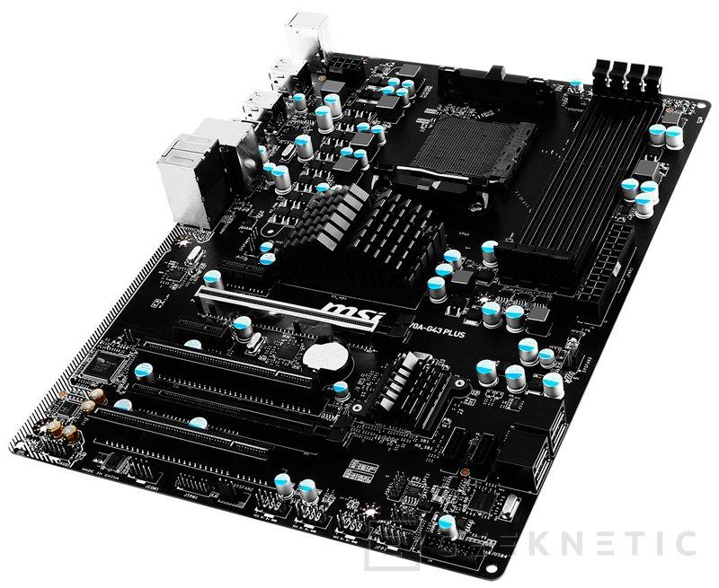 MSI anuncia su nueva placa 970A-G43 Plus con socket AM3+, Imagen 1