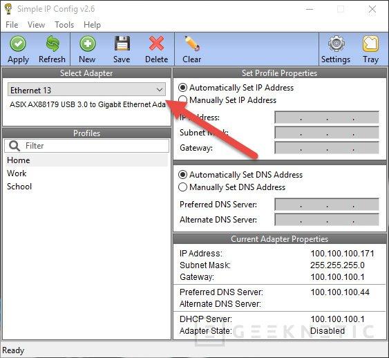 Cómo hacer que Windows guarde una configuración IP con cada