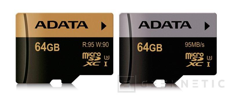 Nuevas tarjetas SDXC y microSDHC UHS-I U3 de ADATA, Imagen 1