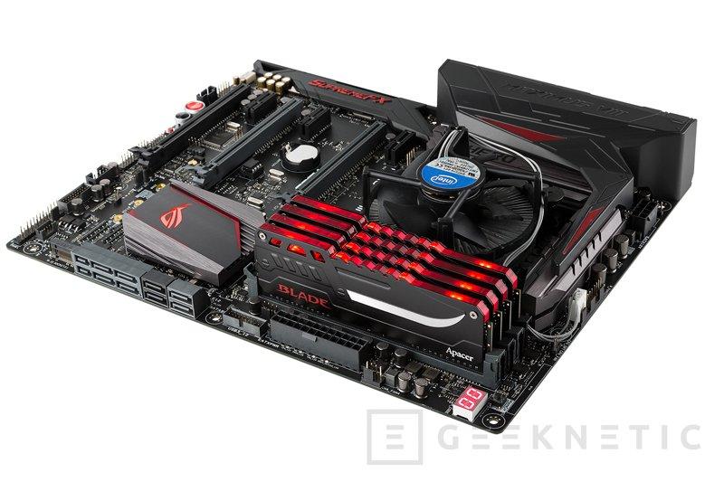 Apacer anuncia nuevas memorias DDR4 Blade Fire a 3.200 MHz con LEDs, Imagen 1