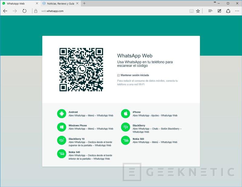 La versión web de whatsapp ya es compatible con Microsoft Edge, Imagen 1