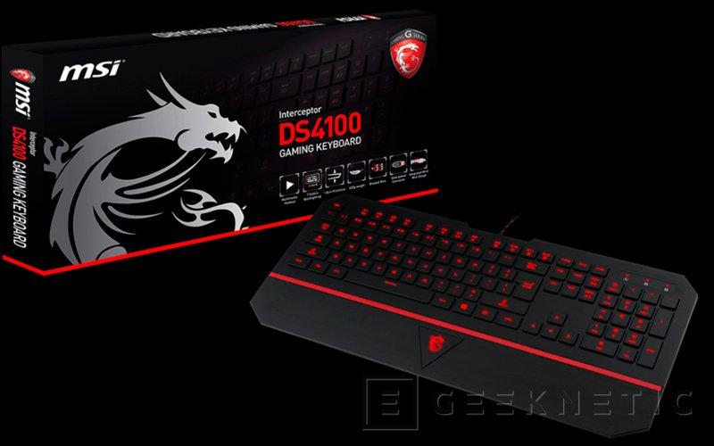 MSI anuncia el nuevo teclado gaming Interceptor DS4100, Imagen 2