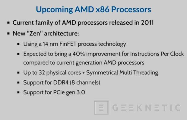 Los procesadores AMD Zen soportarán 8 canales de memoria DDR4, Imagen 1