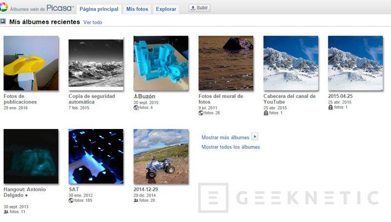 Google cerrará el servicio de fotos Picasa en mayo, Imagen 1